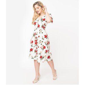Unique Vintage Voodoo Vixen Floral Dress M